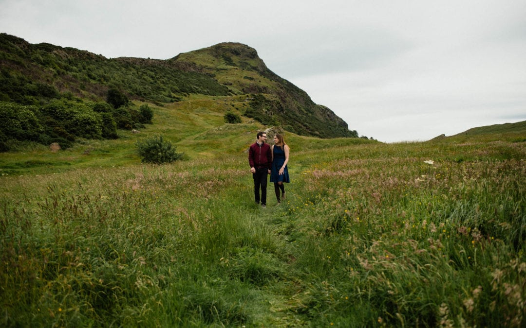 Edinburgh couple photo shoot in Holyrood Park