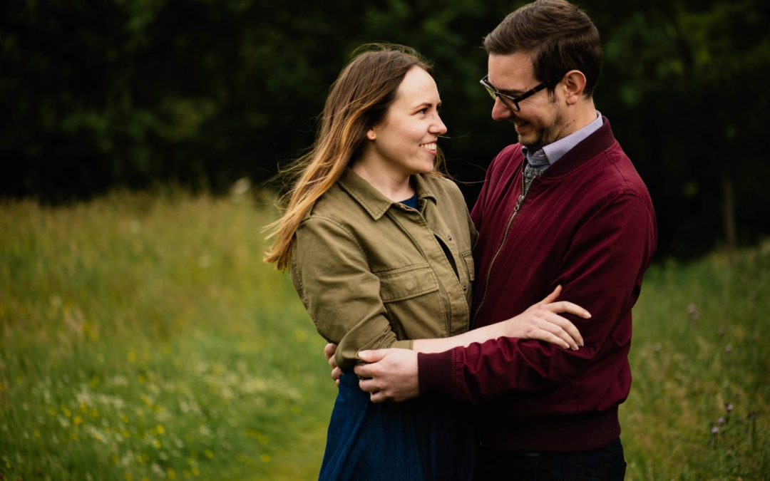 Couples photo shoot in Holyrood Park