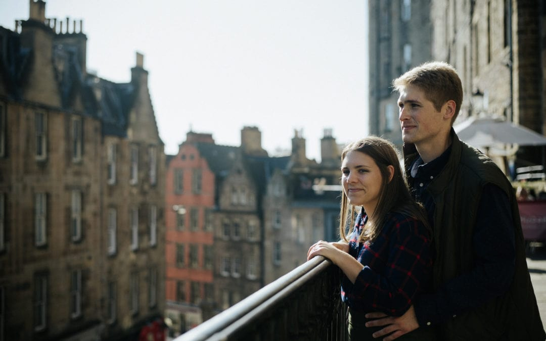 Edinburgh engagement photo shoot with Emily and Daniel