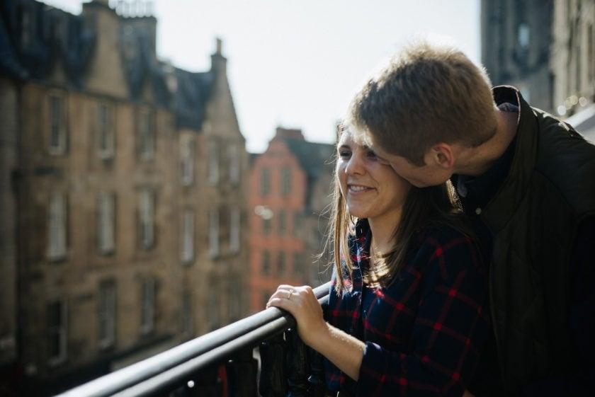 Edinburgh engagement photographer